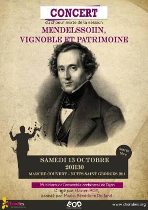 13 octobre 2018 20h30 Mendelssohn, vignoble et patrimoine