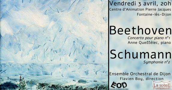 Concert des Musicales en Folies de Fontaine-lès-Dijon 2020, 3 avril 2020, Concerto n°1 de Beethoven, Symphonie n°2 de Schumann