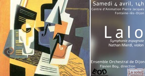 Concert des Musicales en Folies de Fontaine-lès-Dijon 2020, 4 avril 2020, Symphonie Espagnole de Lalo