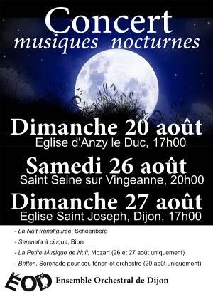 Affiche concert aout 2017 ensemble orchestral de Dijon