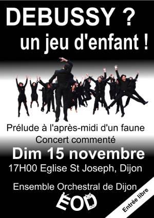 Affiche du concert de l'ensemble orchestral du 15 novembre 2015
