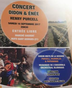 concert Didon et Enee 16 septembre 2017, ensemble orchestral de Dijon